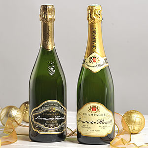 Christmas Champagne Two Bottle Gift - boxes & hampers