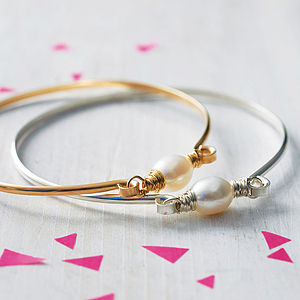 Freshwater Pearl Bangle - christmas delivery gifts for her