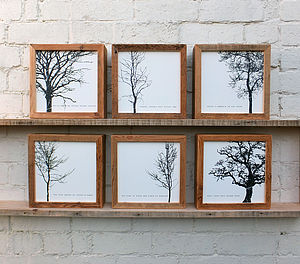 'Winter Trees'; Reclaimed Wood Frame