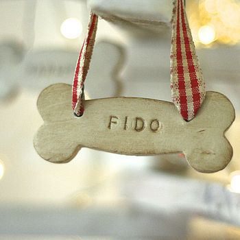 Personalised Doggy Bone Decoration