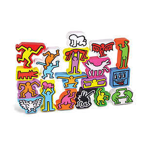 Keith Haring Stacking Blocks - board games & puzzles