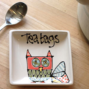 Ceramic Tea Bag Dish - tableware