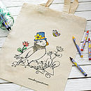 Puffin Design Colour In Tote Bag