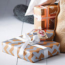 Metallic Chevron Christmas Gift Wrap Set