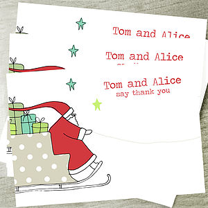 12 Children's Christmas Thank You Cards - cards & wrap