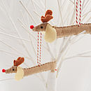 Set Of Two Rudolf Sausage Dog Decorations