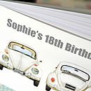 Vw Beetle Birthday Guest Book