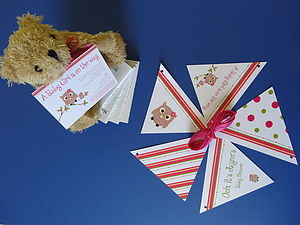 Baby Shower Personalised Bunting - baby shower gifts