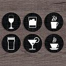 Personalised 'Drink' Coasters
