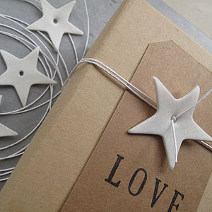 Star And String Gift Wrap Decorations - finishing touches