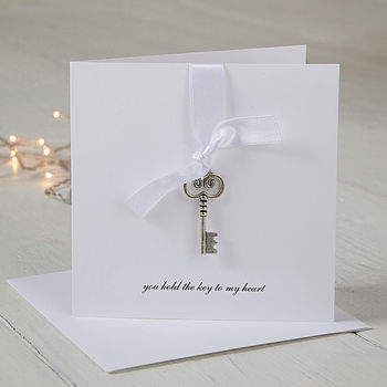 Personalised Key To My Heart Valentine's Day Card