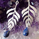 Kiki Leaf Earrings with Lapis Lazuli