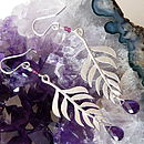 Kiki Leaf Earrings with Amethyst