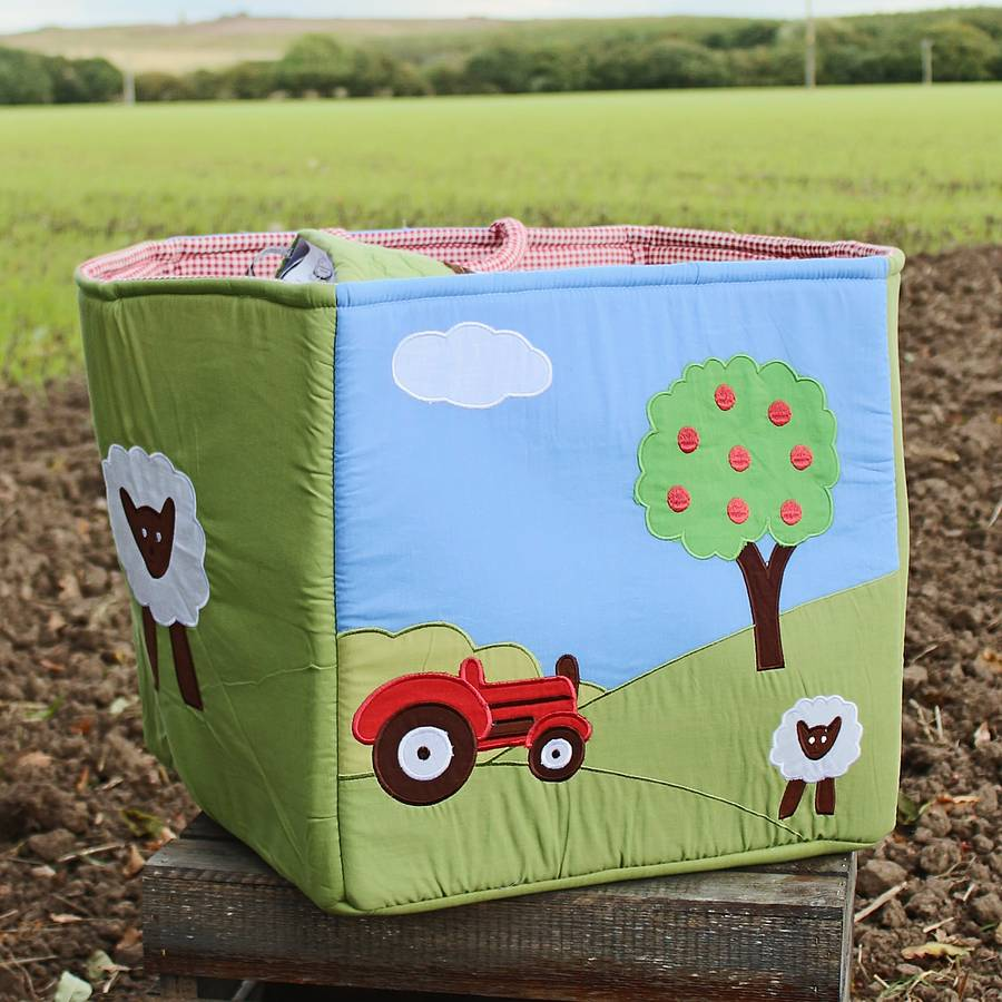 Red Tractor Quilted Toy Bag