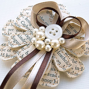 Pearl Literary Flower Corsage