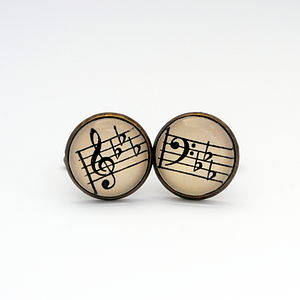 Love Music Musical Notes Cufflinks