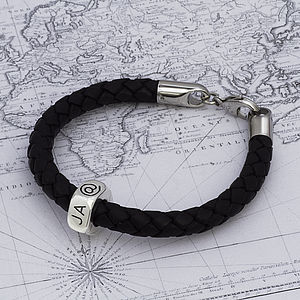 Personalised Travel Leather Bracelet - for travel-lovers
