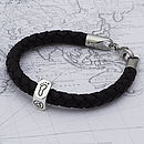 Personalised Traveller Leather Bracelet