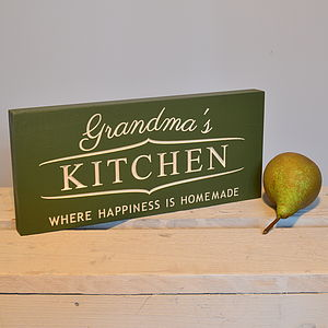 Engraved At Home With Grandma Sign