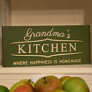 Engraved Grandma's Kitchen Sign