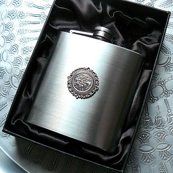 50th Or 60th Birthday Hip Flask