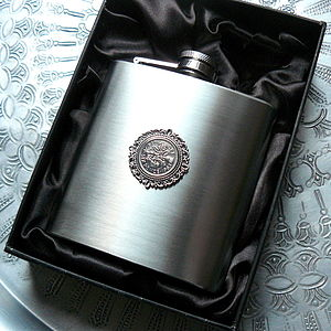 50th Or 60th Birthday Hip Flask - wines, beers & spirits