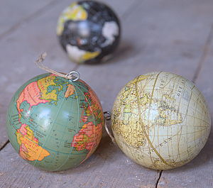 Globe World Hanging Decoration - tree decorations