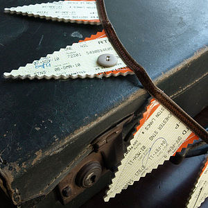 Train Ticket Bunting - bunting & garlands
