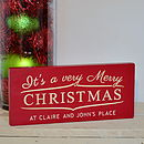 Personalised Very Merry Christmas Sign
