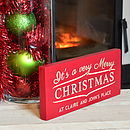 Personalised engraved very merry Christmas sign