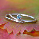 Blue Diamond Ring In 18ct White Gold