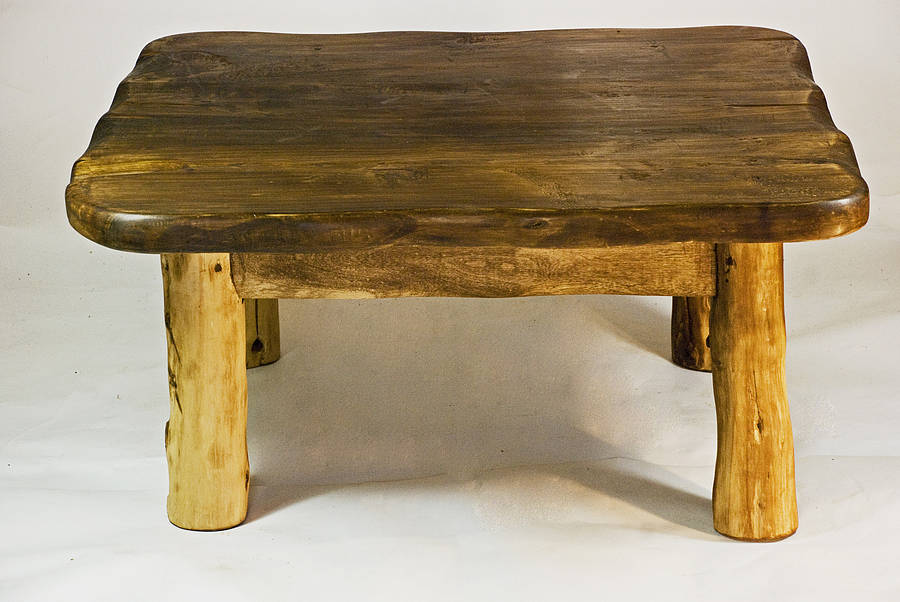 Handmade small wooden coffee table by kwetu for Small wood coffee table