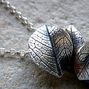 Cascading Silver Leaf Imprint Necklace