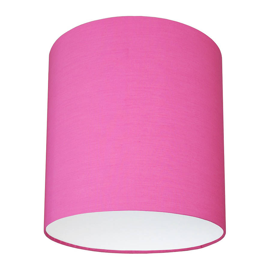 Small pink lamp shades credainatcon plain bright coloured lampshade 40 colours by quirk aloadofball Choice Image