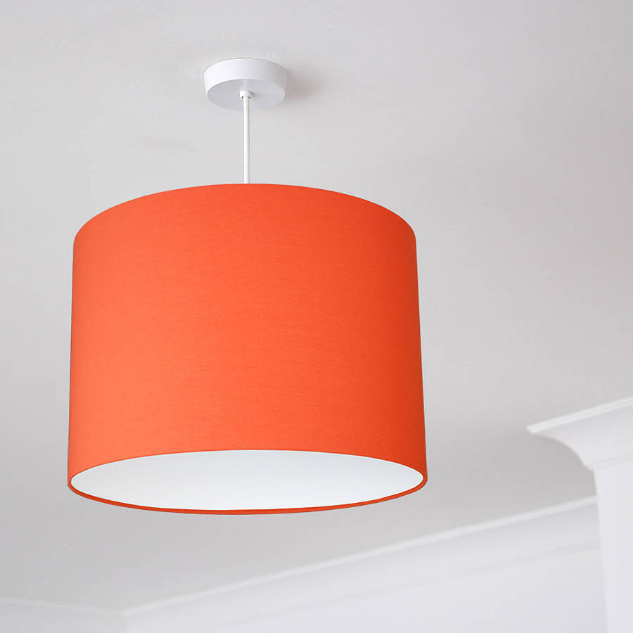 plain bright coloured lampshade 25 colours by quirk. Black Bedroom Furniture Sets. Home Design Ideas