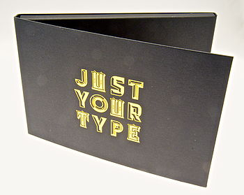 Gold Typographic Stickers