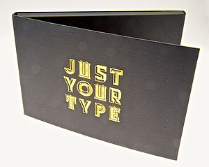Gold Typographic Stickers - card crafting