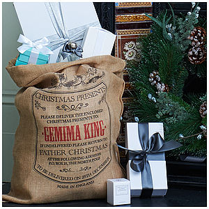Personalised Burlington Christmas Sack - stockings & sacks