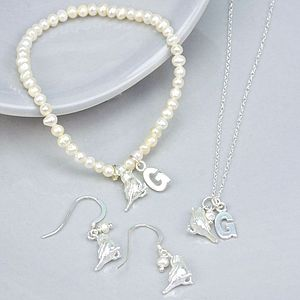 Personalised Songbird Jewellery Set - wedding jewellery