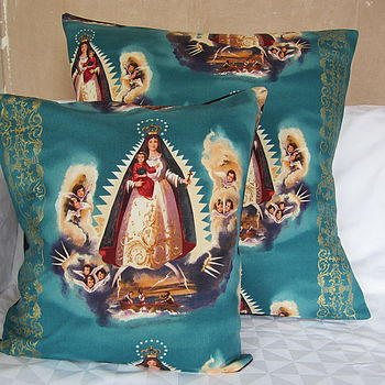 Virgin Of Guadalupe Cushion