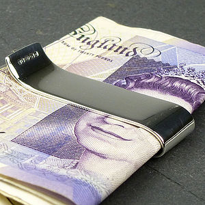 Silver Money Clip - personalised