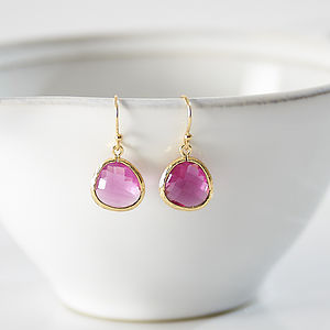 Little Gold Raindrop Earrings - women's jewellery