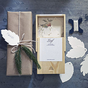 Autumn Leaves Boxed Gift Tags And Twine - christmas craft ideas