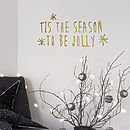 'Tis The Season' Wall Sticker