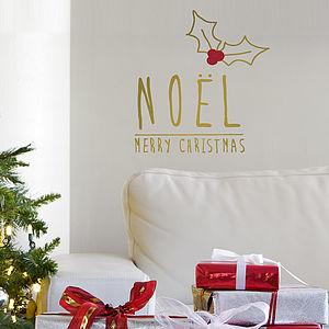 Gold 'Noël' Christmas Wall Sticker - shop by price