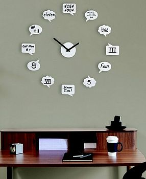 White Board Message Clock