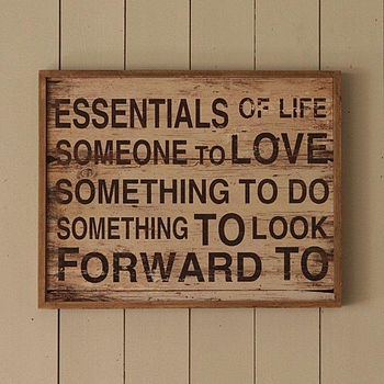 Essentials Of Life Sign