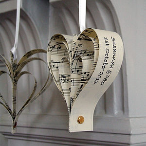 Handmade Personalised Heart Decoration - wedding favours