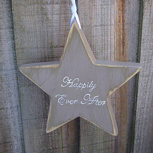 'Happily Ever After' Star Or Heart Decoration