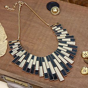 Gold Art Deco Statement Necklace - necklaces & pendants